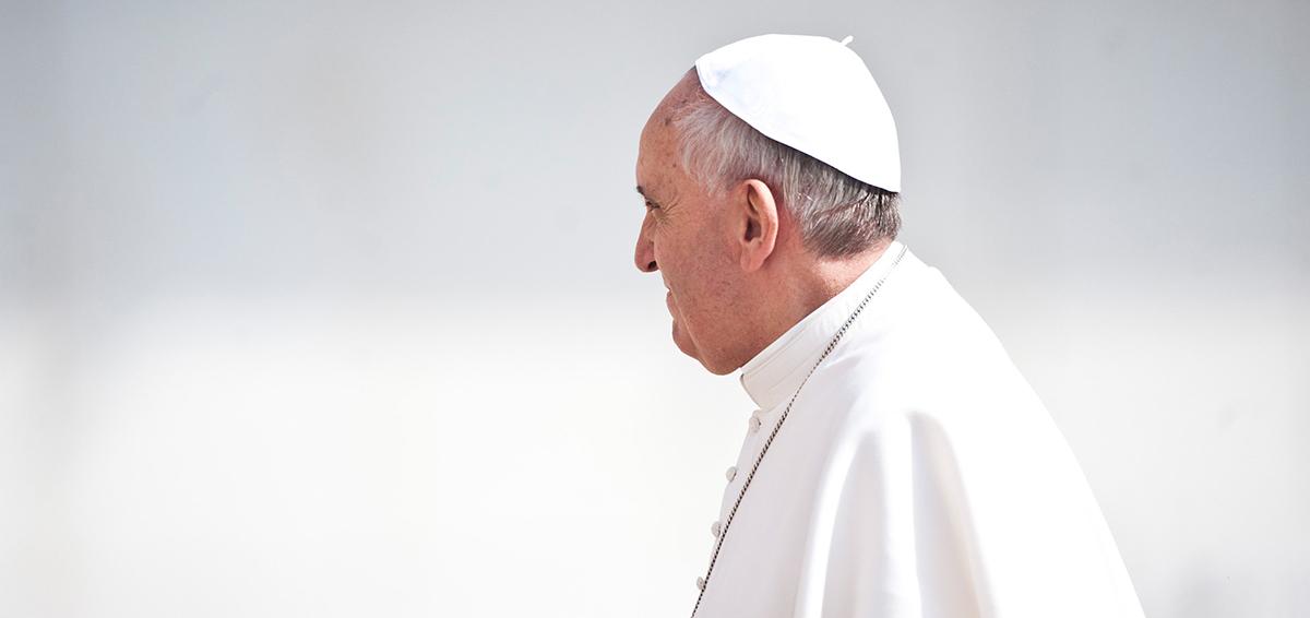 Le pape François, lors d'une audience pontificale (© flickr/catholicism/CC BY-NC-SA 2.0)
